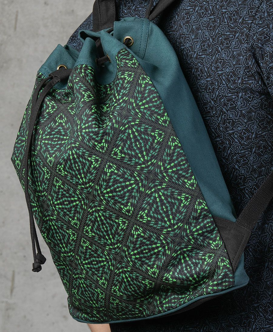 Hexit ➟ Padded Straps Drawstring Backpack