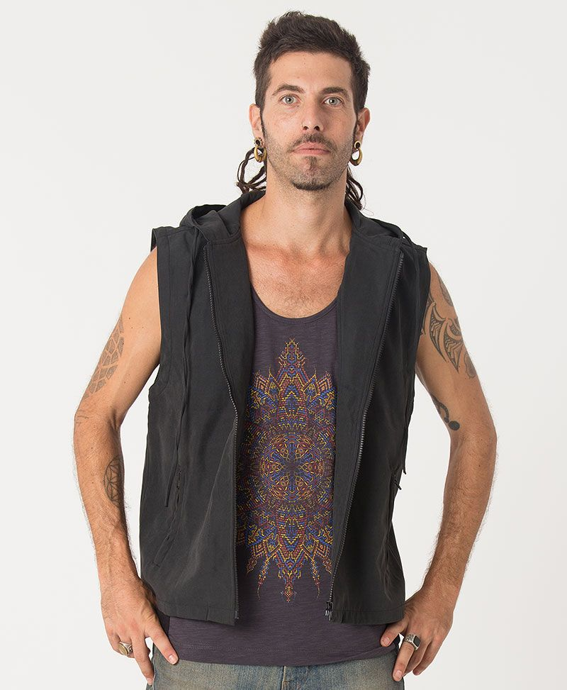 Mexica Microfiber Vest ➟ Black