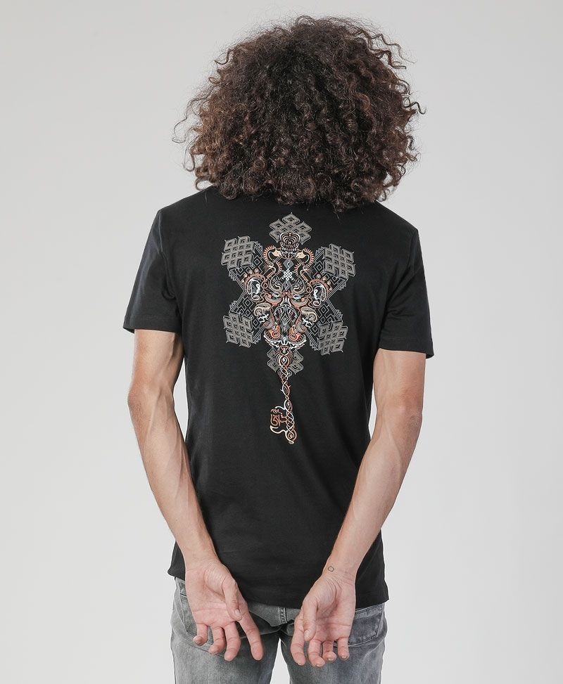 Om On Key T-shirt ➟ Black