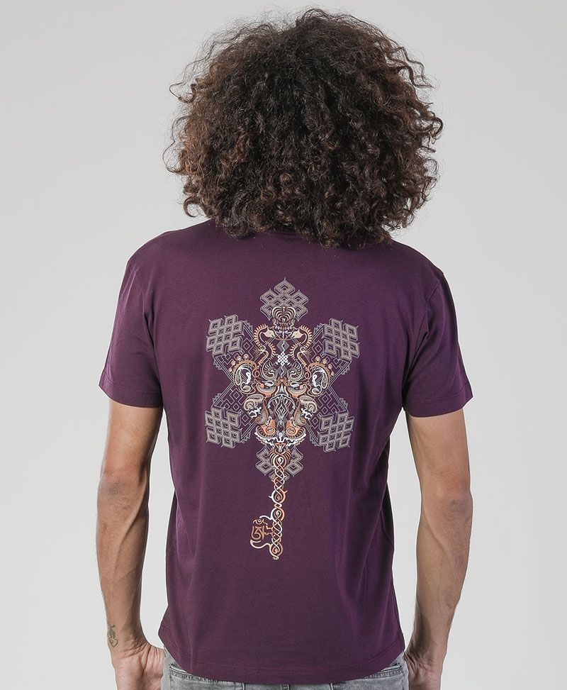 Om On Key T-shirt ➟ Purple