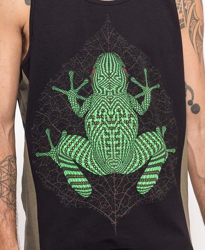 Sapo Kambô Tank Top ➟ Green + Black