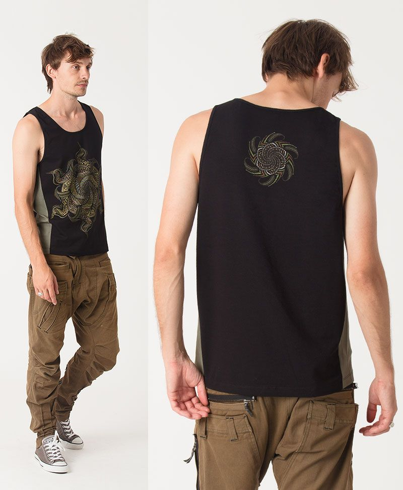Vortex Tank Top ➟ Green + Black