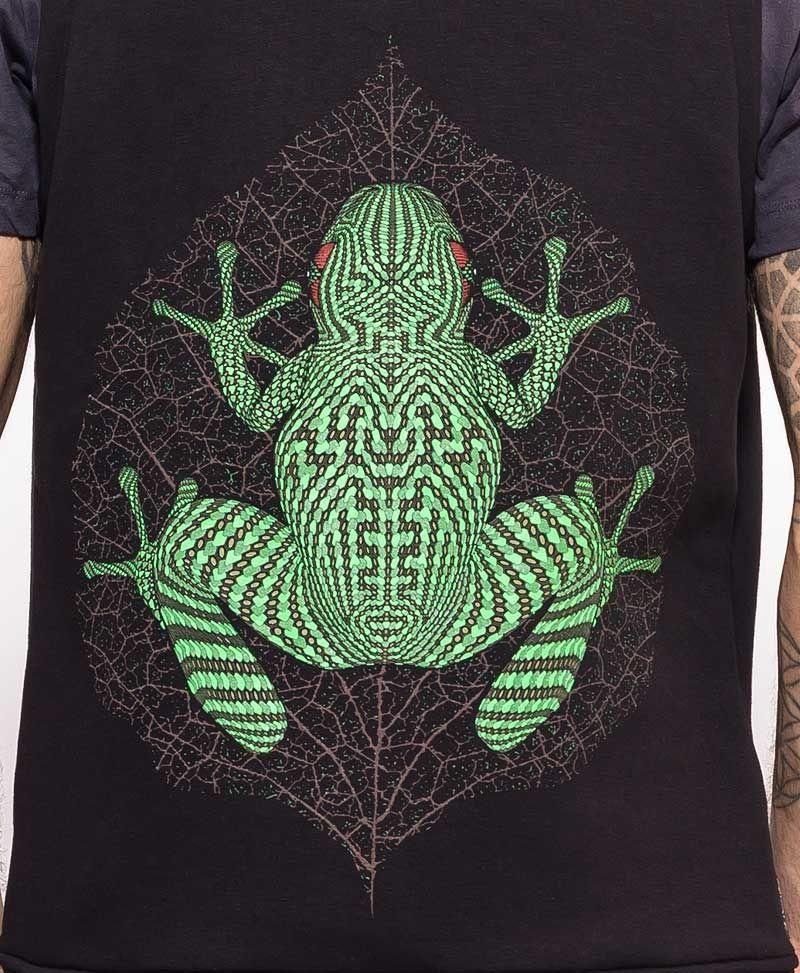Sapo Kambô Hooded Vest ➟ Black