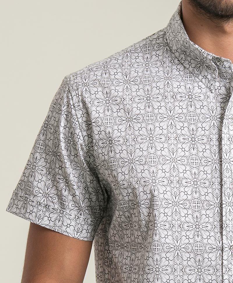 Arabesque Button Shirt ➟ White