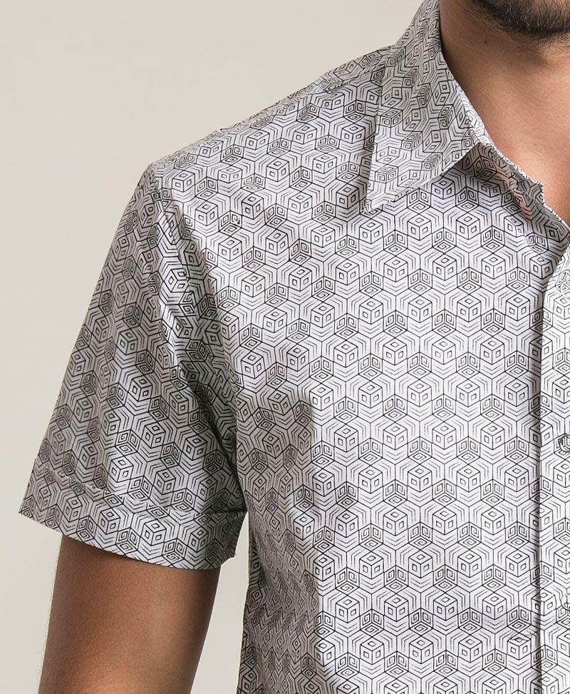Kubic Button Shirt ➟ White