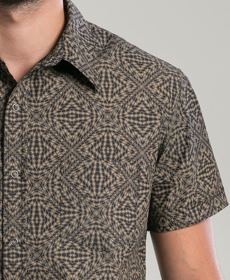 Hexit Button Shirt ➟ Black