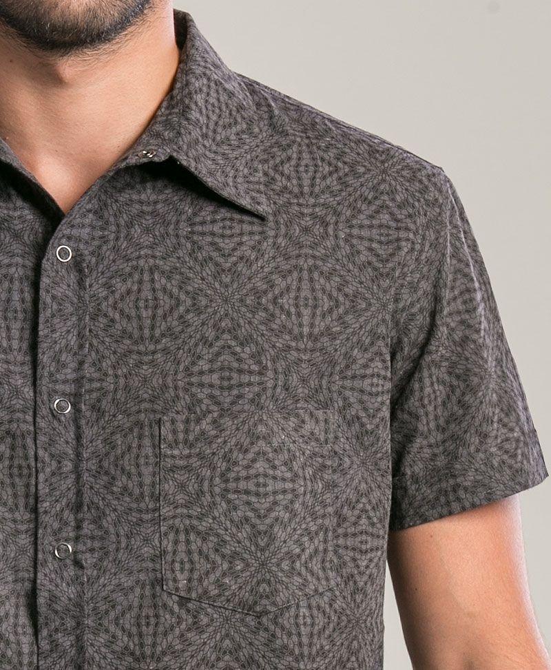 Hexit Button Shirt ➟ Grey