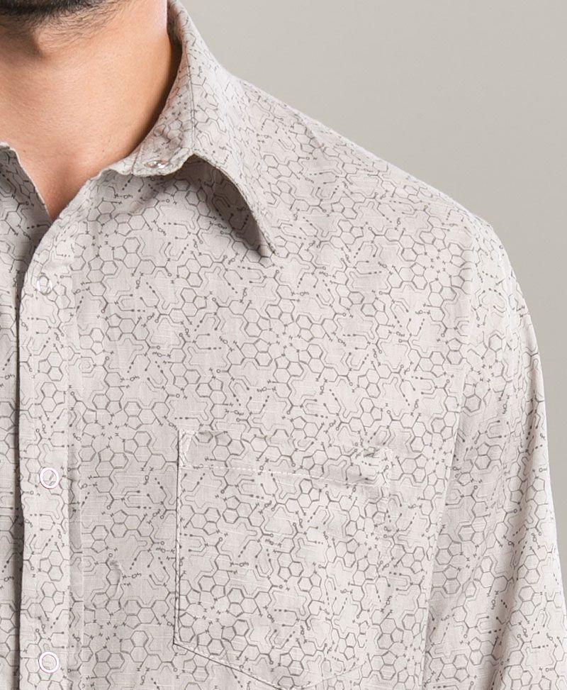 LSD Long Button Shirt ➟ Light Grey