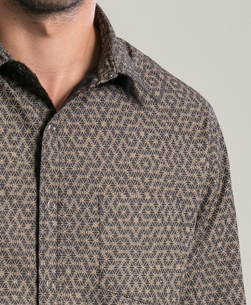 Seeds Long Button Shirt ➟ Black