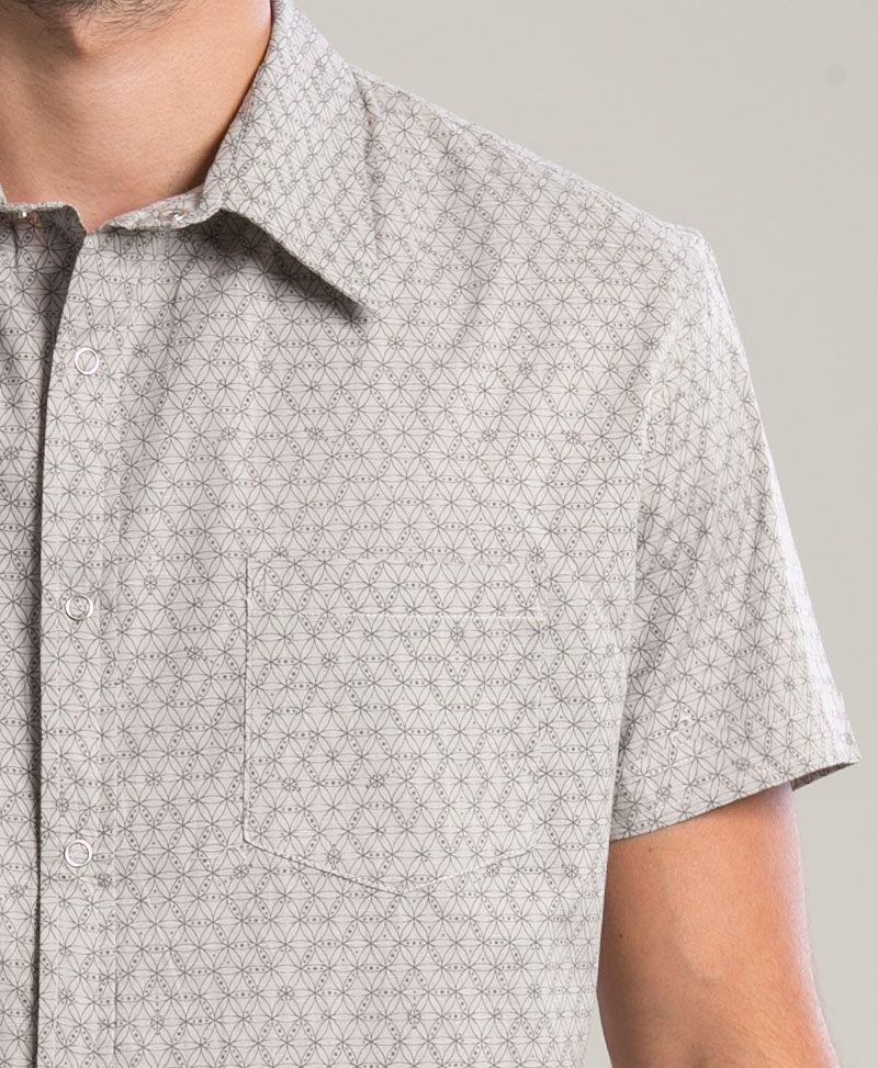Seeds Button Shirt ➟ Light Grey