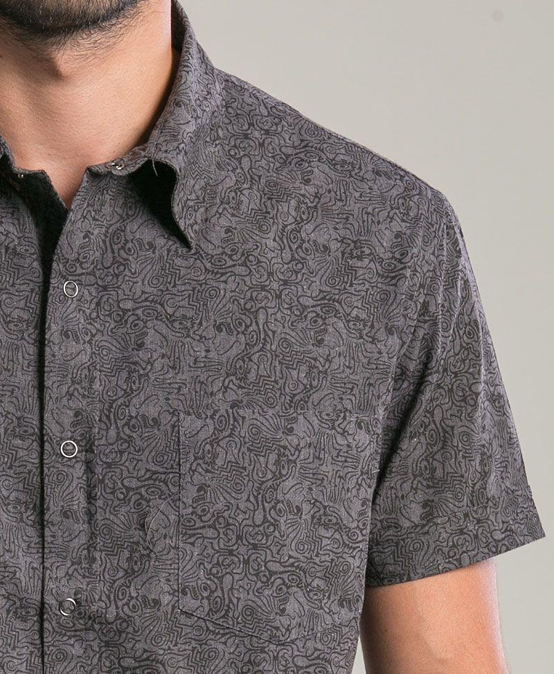 Tails Button Shirt ➟ Dark Grey