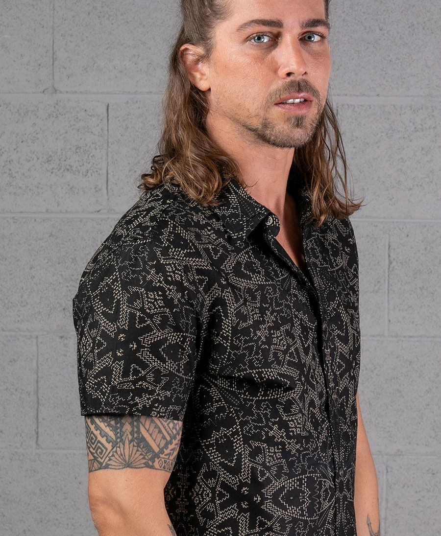 Mexi Button Shirt ➟ Black