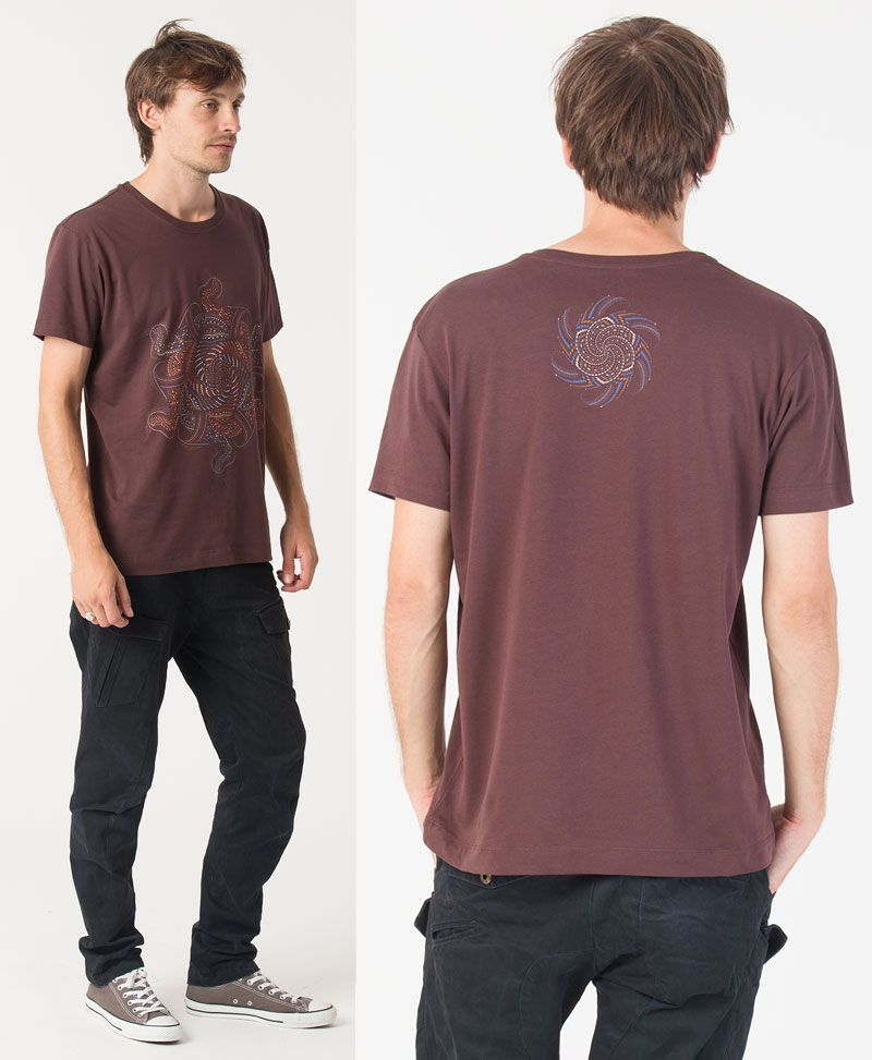 Vortex T-shirt ➟ Brown