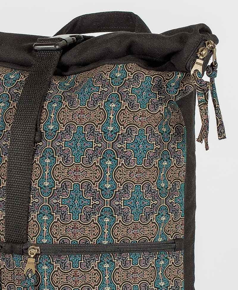 Shipibo Kené Roll-Top Backpack 25L