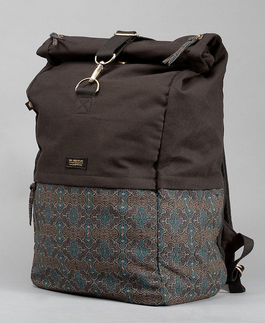 Shipibo Kené Roll-Top Backpack 45L