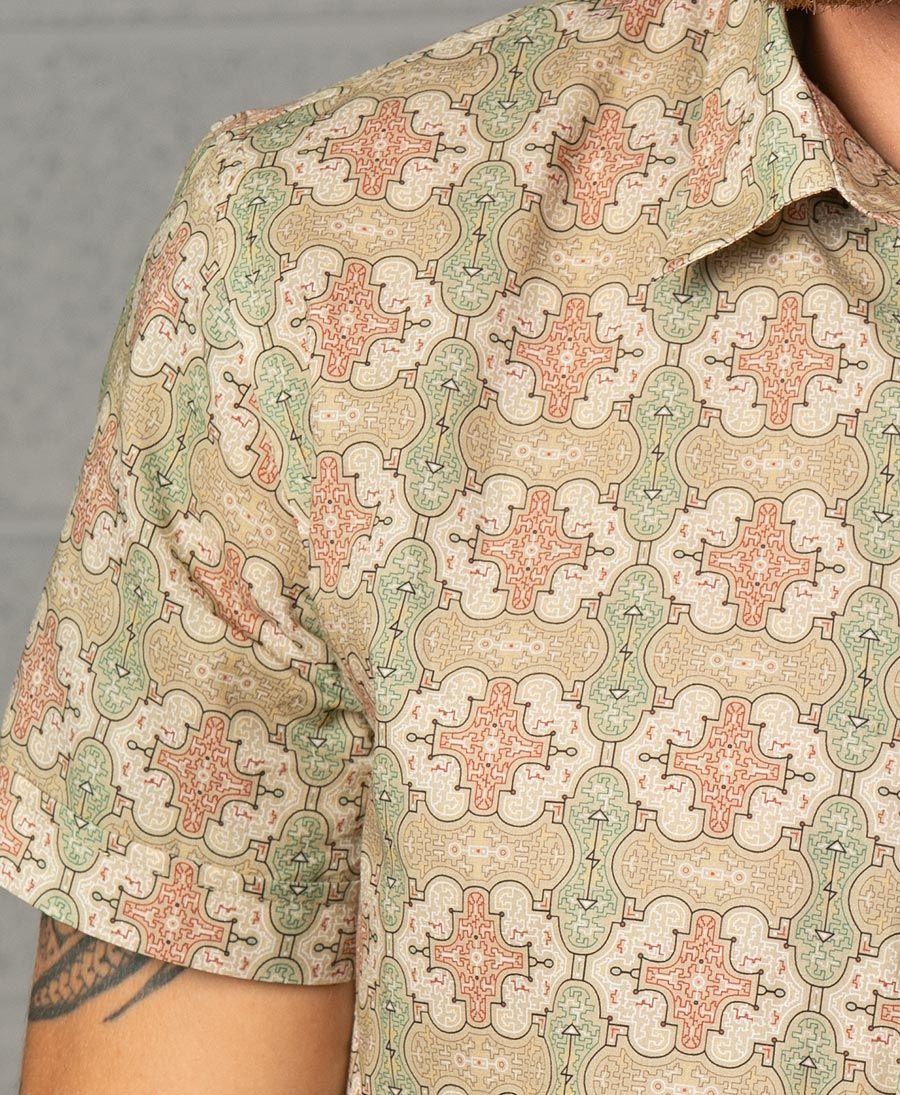 Shipibo Kené Button Shirt
