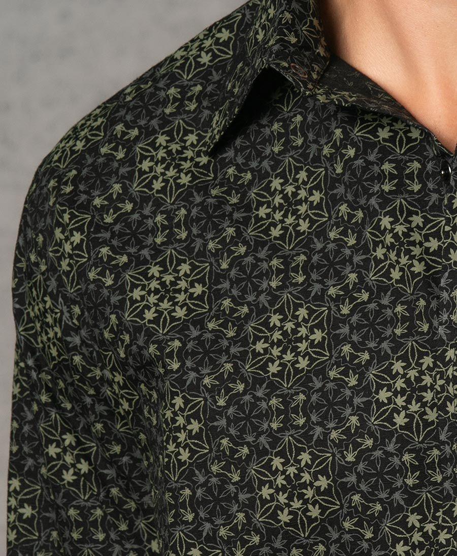 Hempi Long Button Shirt ➟ Black