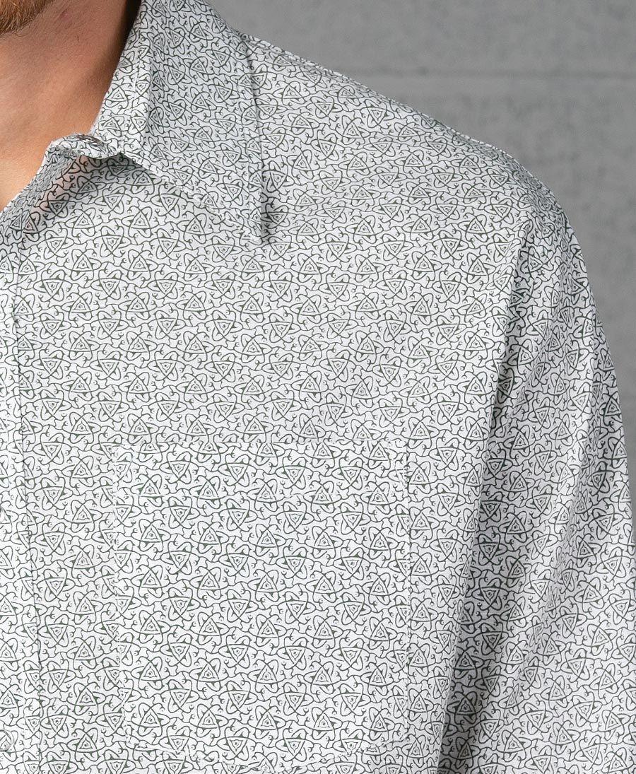 Atomic Long Button Shirt ➟ White