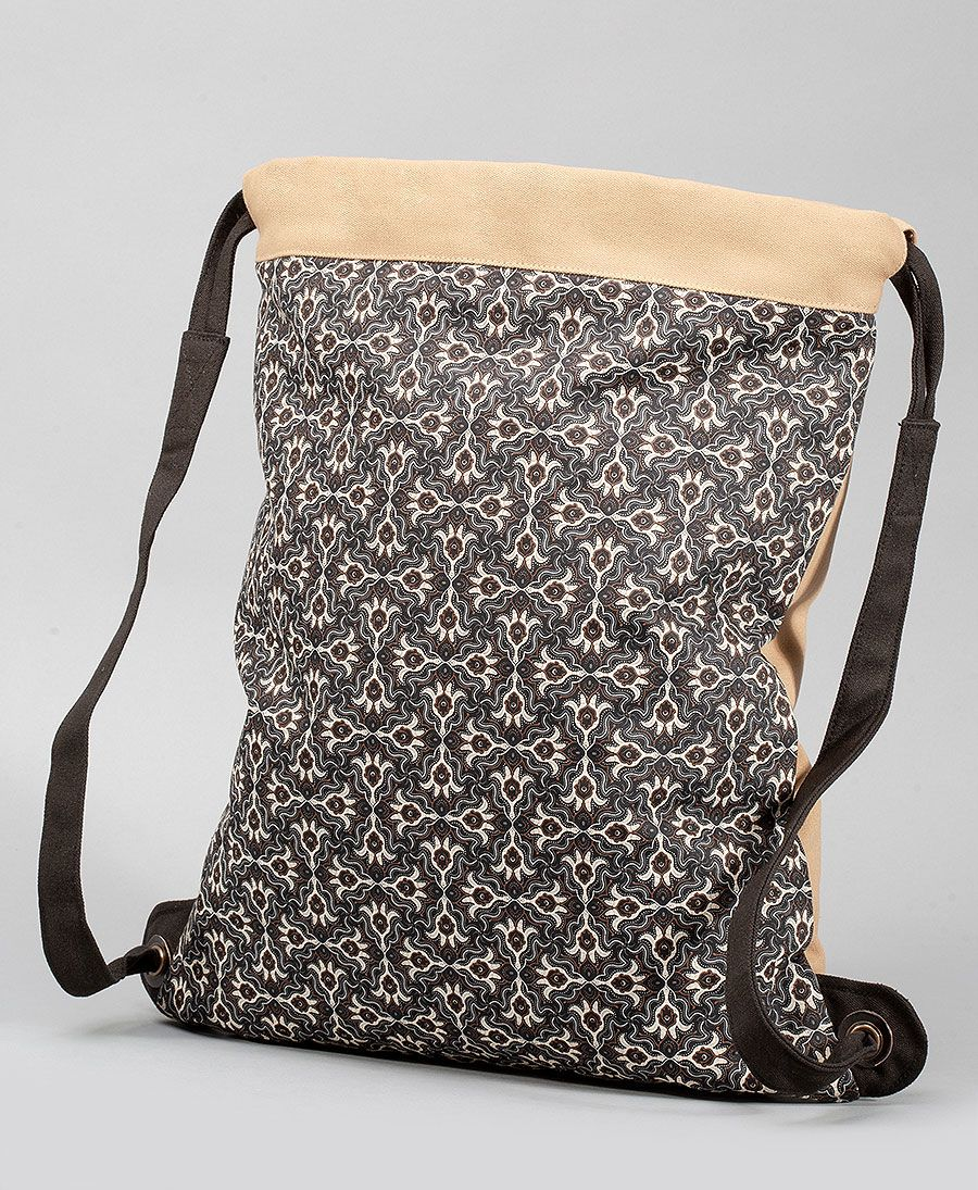 Hamsa Drawstring Backpack ➟ Stone
