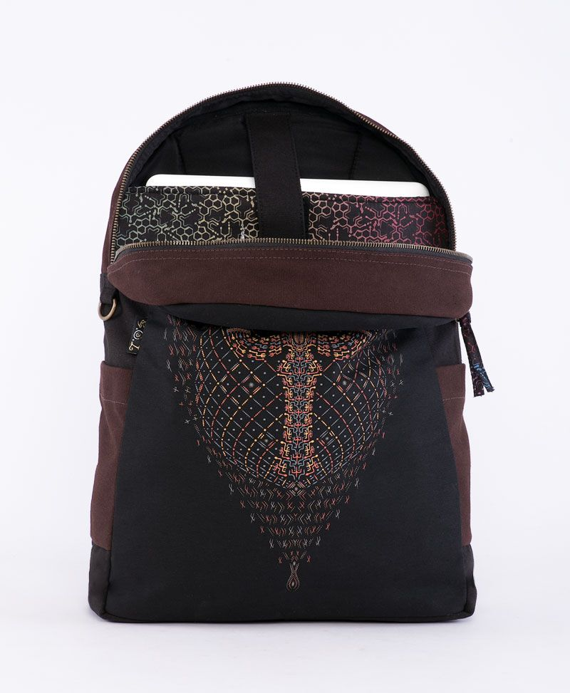 Trishula Backpack - Round - Brown