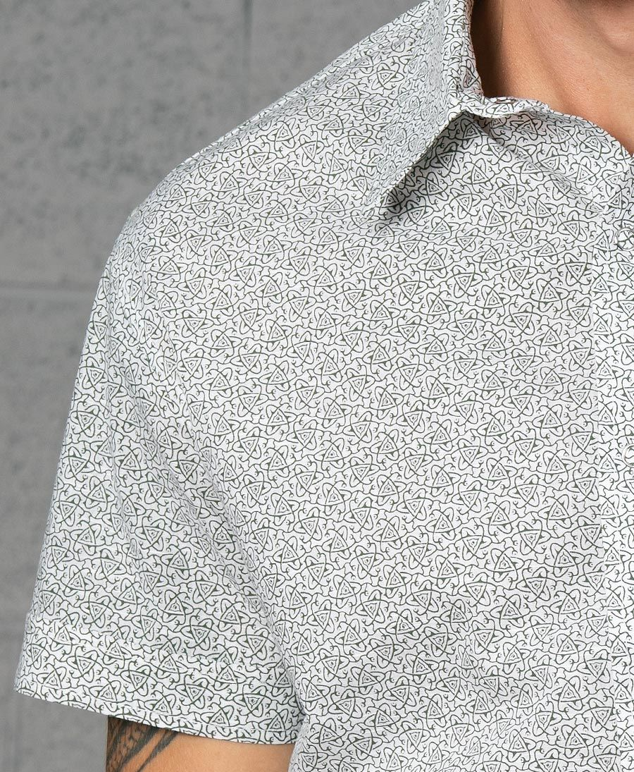 Atomic Button Shirt ➟ White