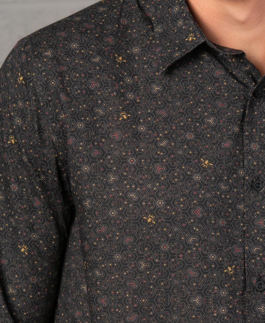 Beez Button Shirt- Long Sleeve
