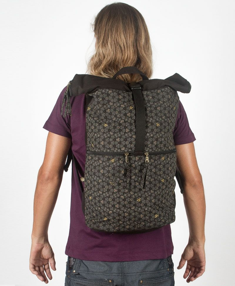 Bees Roll-Top Backpack