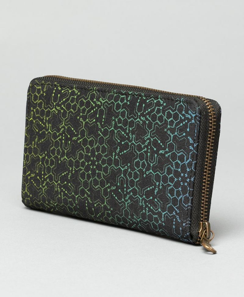 LSD Molecule Women Wallet ➟ Blue Green