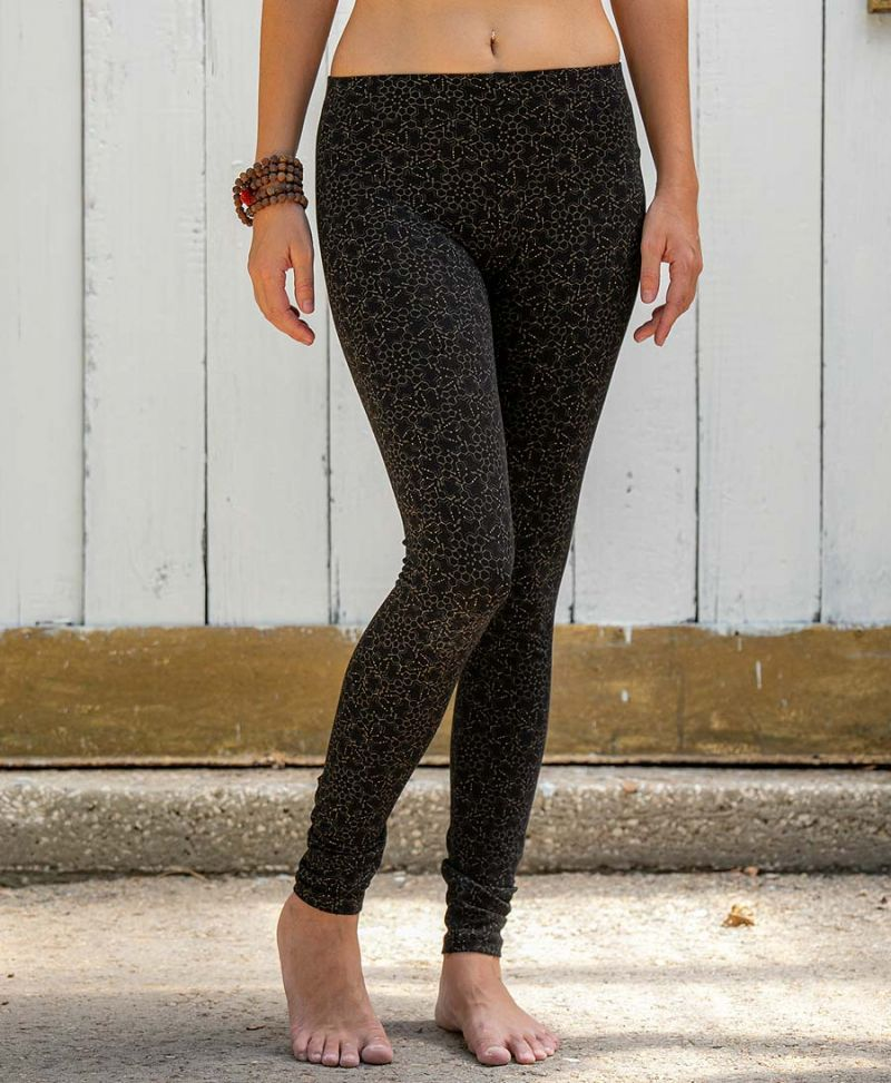 LSD Molecule Leggings / Full Length - Black