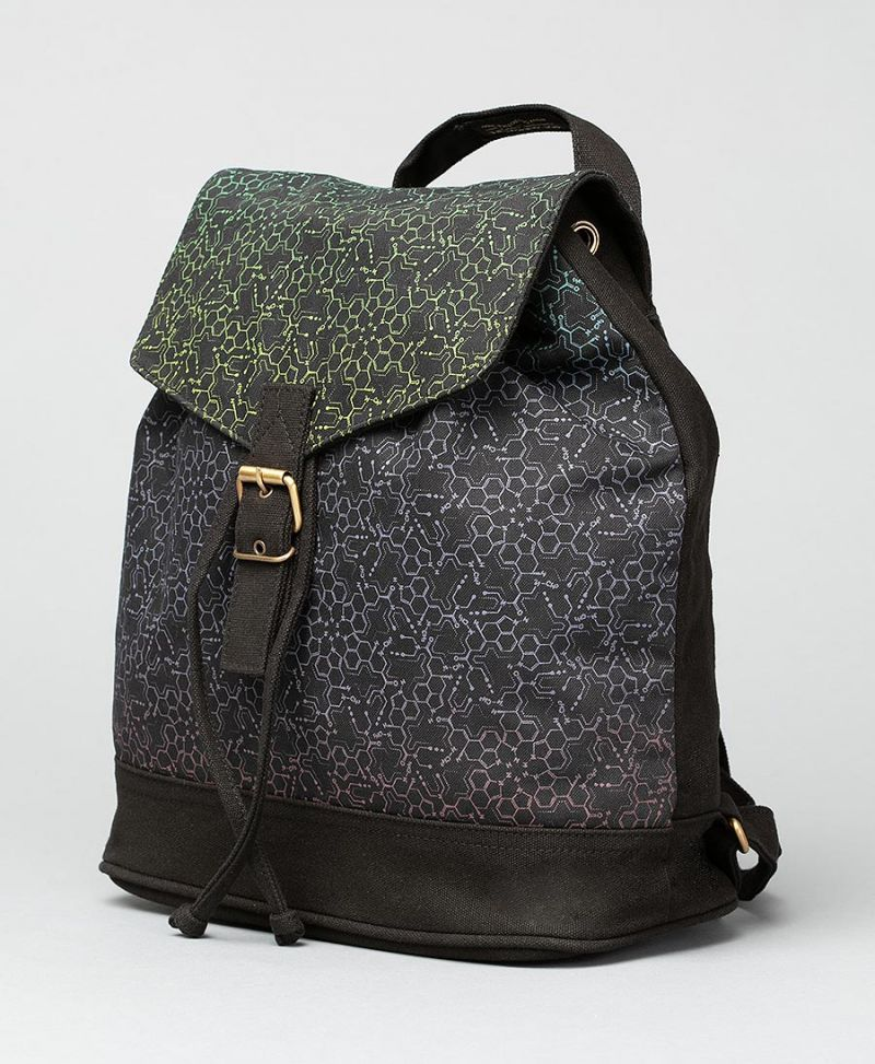 LSD Molecule Mini Backpack / Green Purple