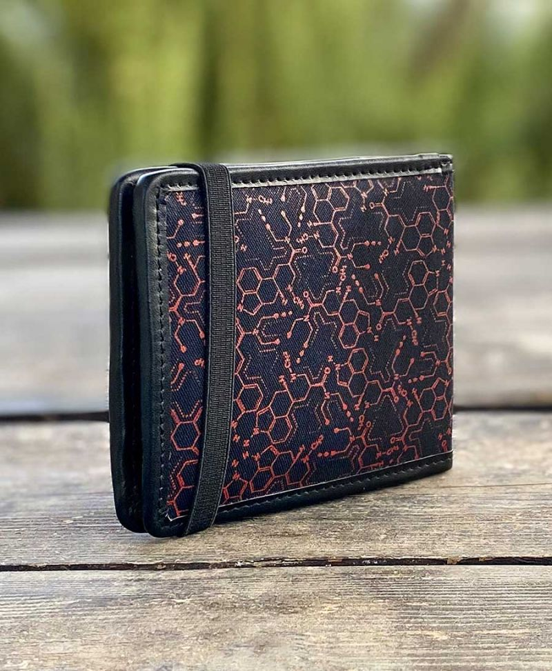LSD Molecule Mens Wallet / Red