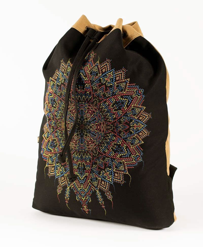 Mexica  ➟ Padded Straps Drawstring Backpack