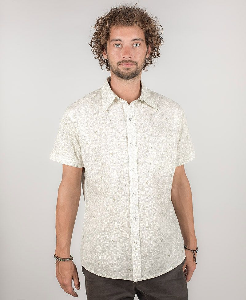Beez Button Shirt ➟ White