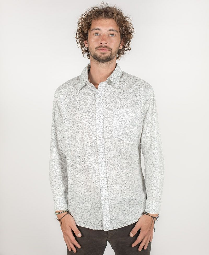 Plonter Long Button Shirt ➟ White