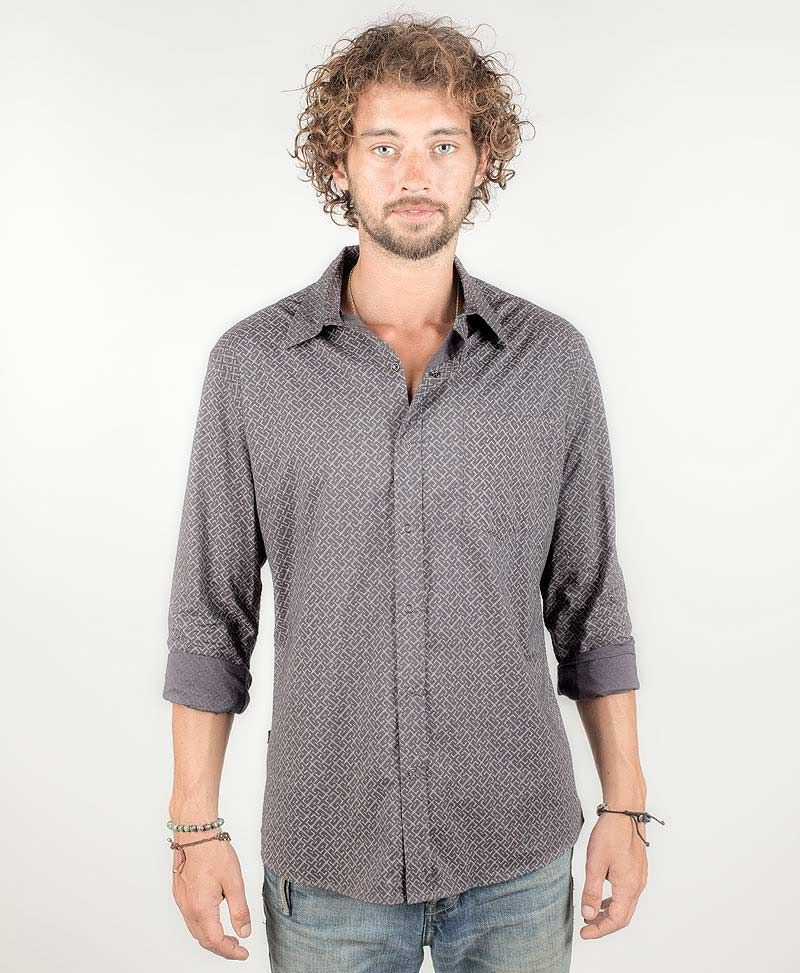 InOut Long Button Shirt ➟ Grey
