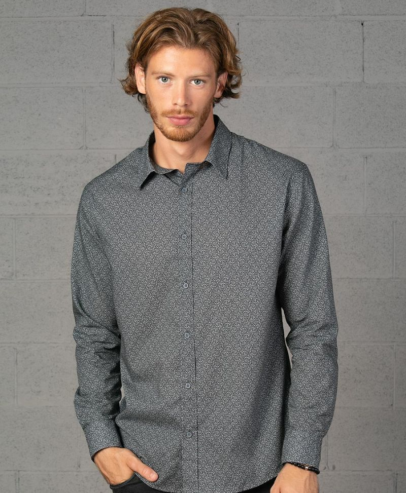 Atomic Button Shirt- Long Sleeve