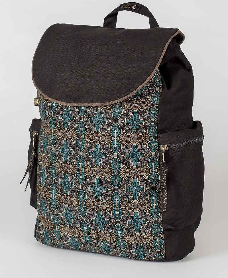 Shipibo Kené Backpack - Black