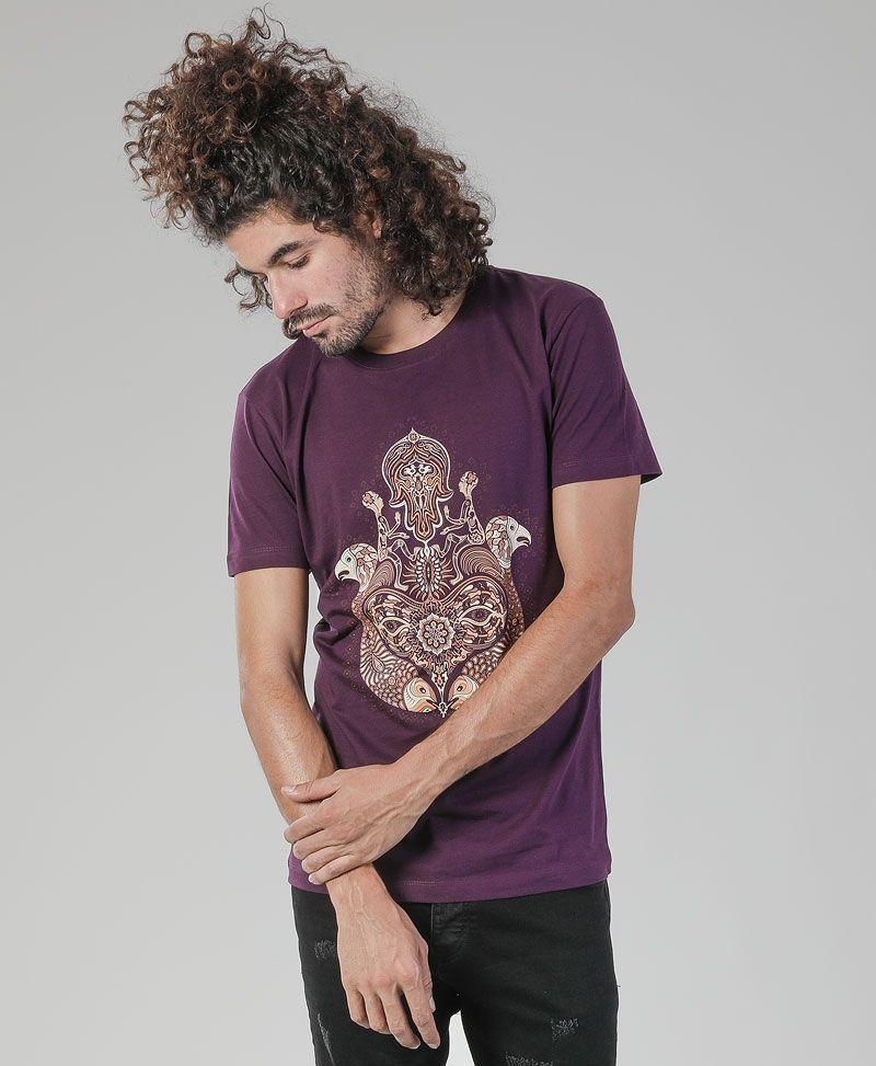 Hamsa T-shirt ➟ Purple