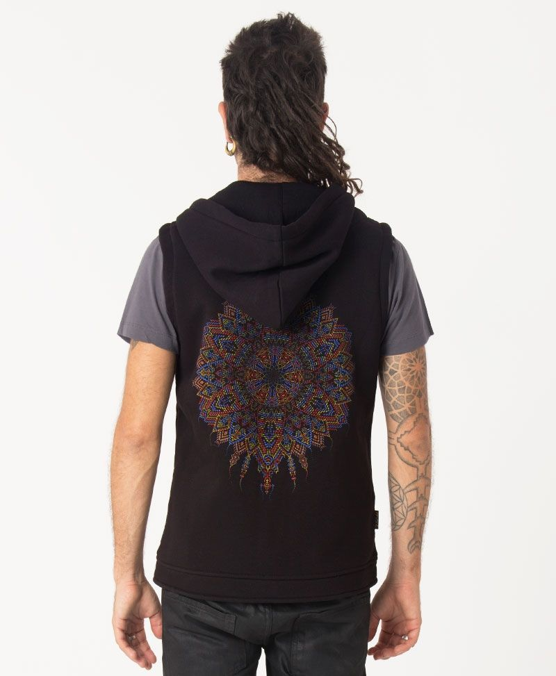 Mexica Hooded Vest ➟ Black