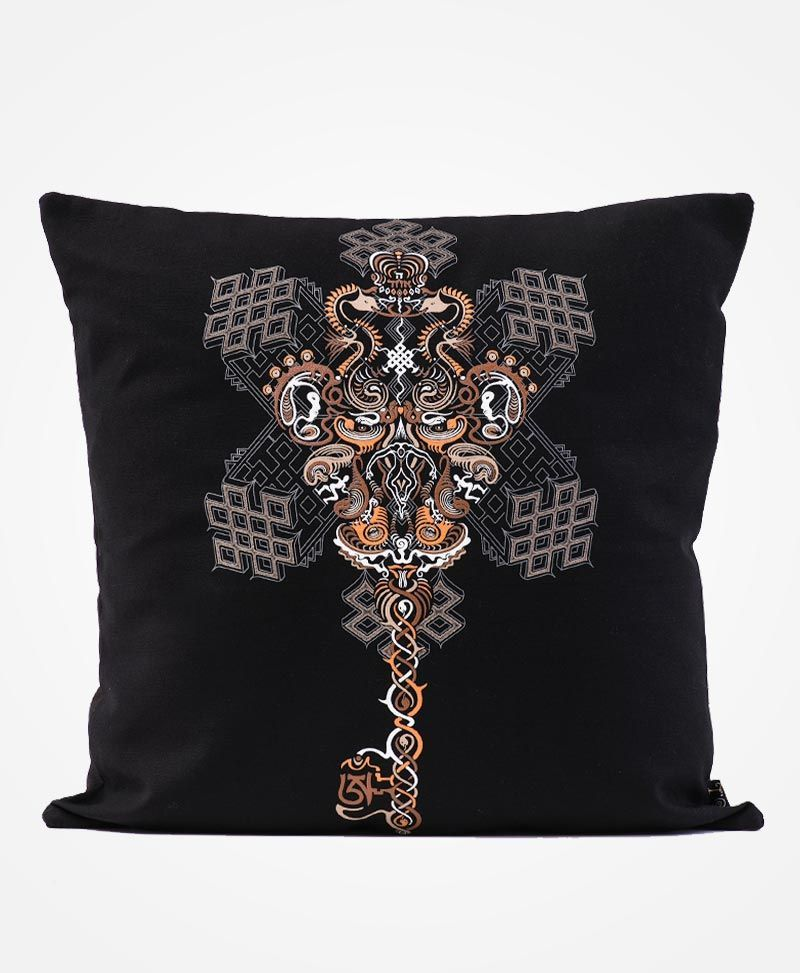 Om On Key Cushion Cover