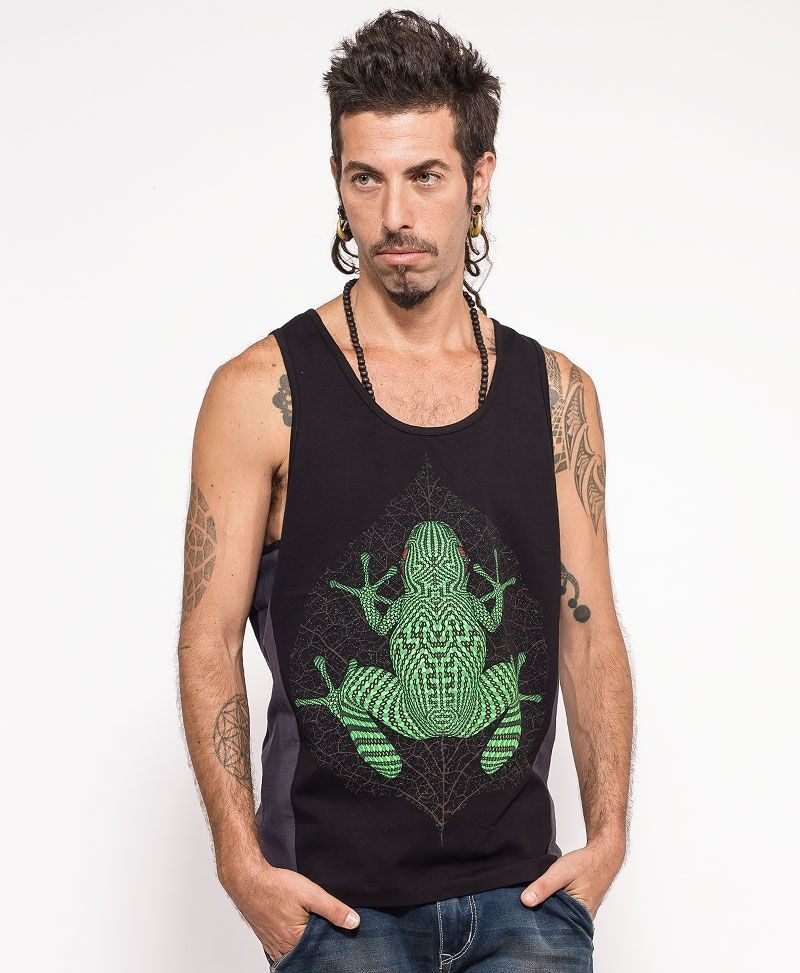 Sapo Kambô Tank Top ➟ Grey + Black