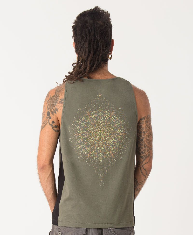 Peyote Tank Top ➟ Green + Black