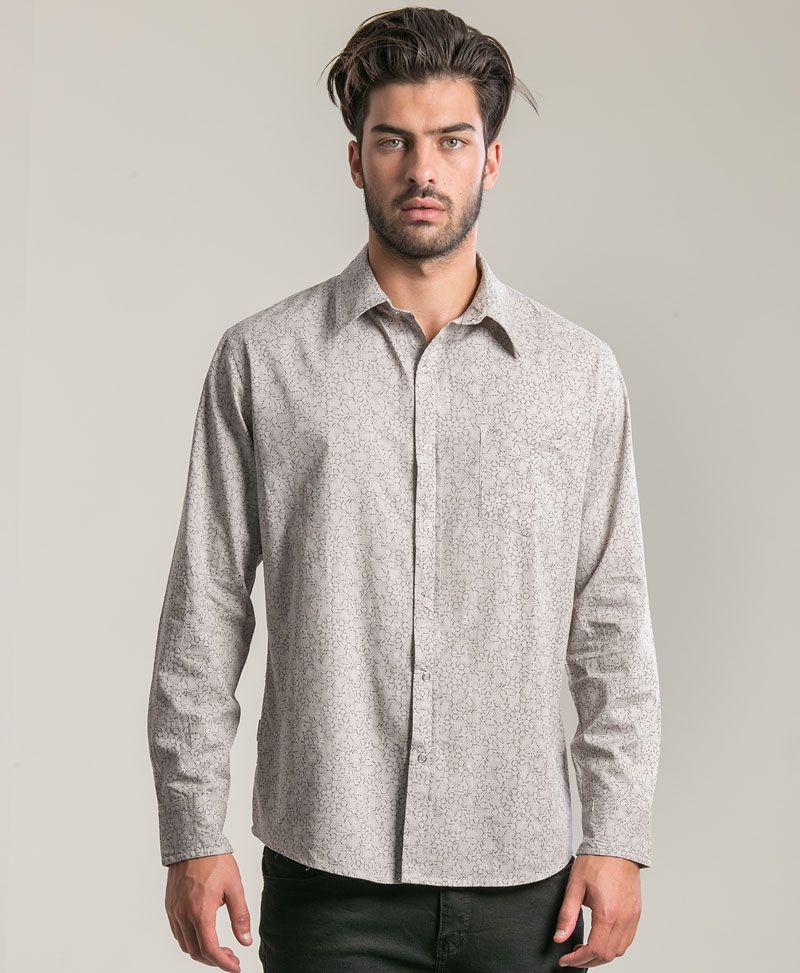 LSD Long Button Shirt ➟ Light Grey