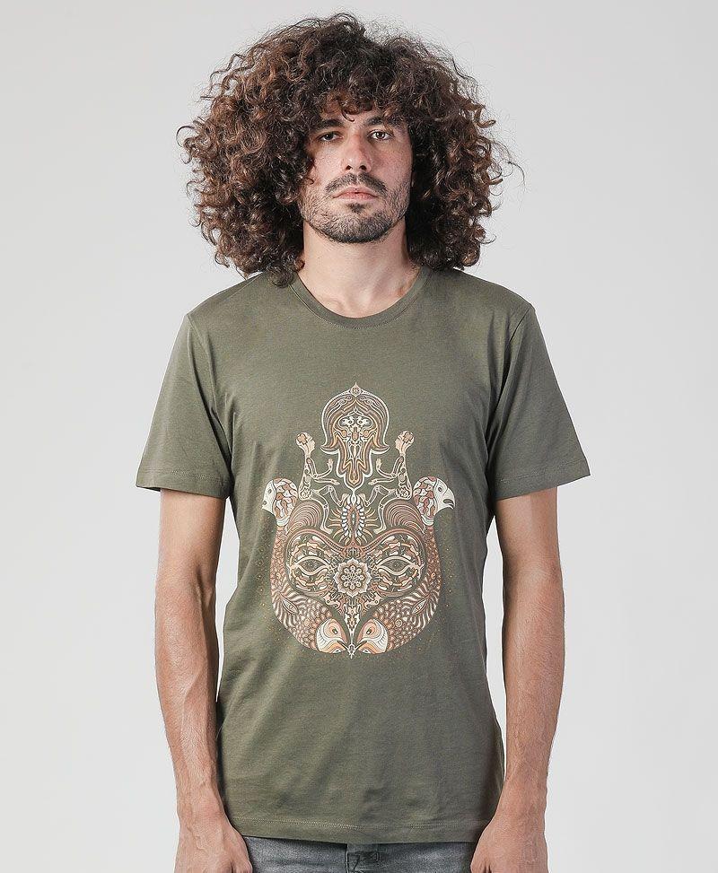Hamsa T-shirt ➟ Olive