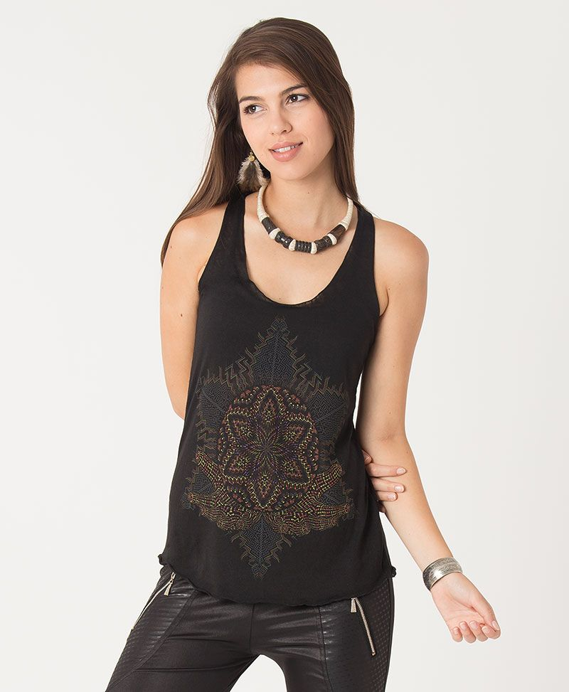 Anahata Burnout Top ➟ Black / White