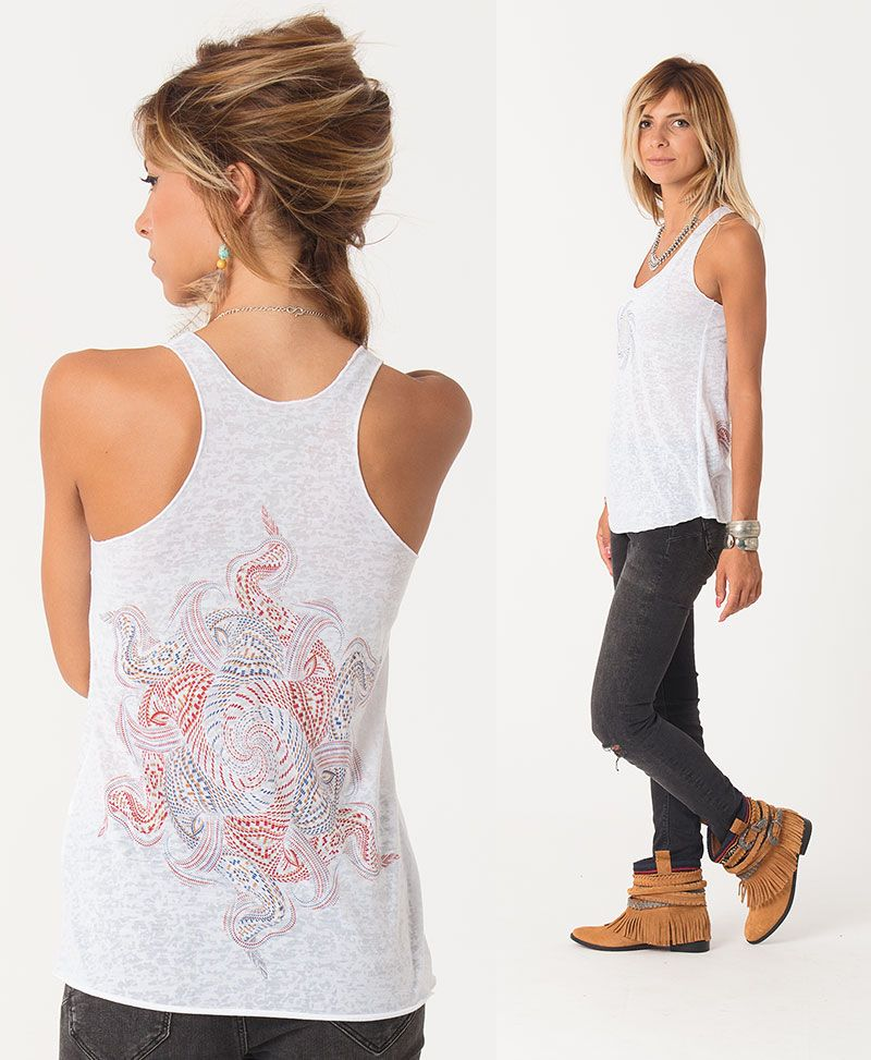 Vortex Burnout Top ➟ Black / White