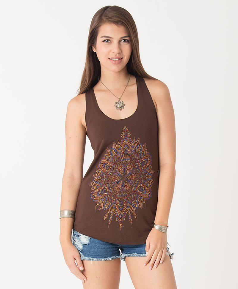 Mexica Top ➟ Brown / Mustard / Stone