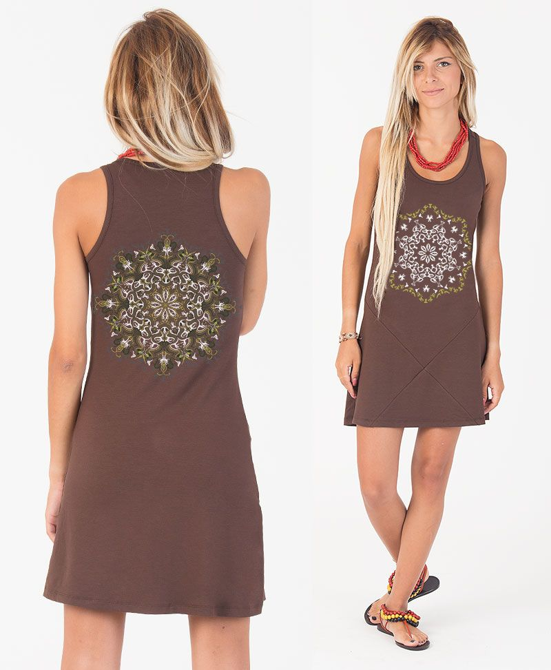 Lotusika Tunic Dress ➟ Brown