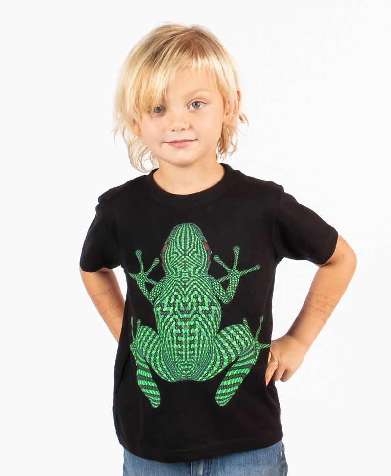 Sapo Kambô Kids T-shirt ➟ Black