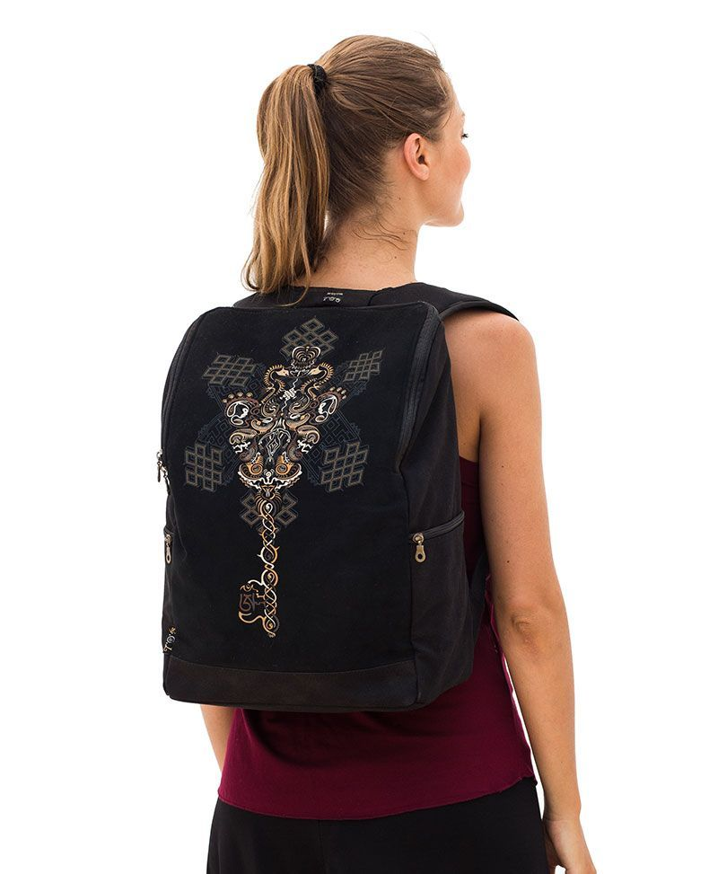 Om on Key  Backpack - Square